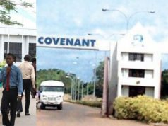 International Excellence award at Covenant University in Nigeria, 2019